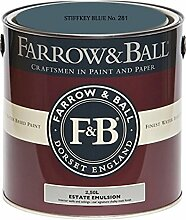 Farrow & Ball Estate Emulsion 2,5 Liter - STIFFKEY BLUE No. 281