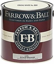 Farrow & Ball Estate Emulsion 2,5 Liter - STRONG WHITE No. 2001