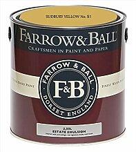 Farrow & Ball Estate Emulsion 2,5 Liter - SUDBURY YELLOW No. 51