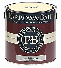 Farrow & Ball Estate Emulsion 2,5 Liter - TALLOW No. 203