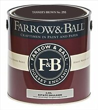 Farrow & Ball Estate Emulsion 2,5 Liter - TANNER´S BROWN No. 255