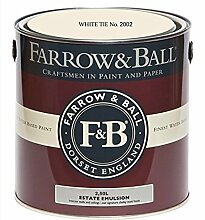 Farrow & Ball Estate Emulsion 2,5 Liter - WHITE TIE No. 2002