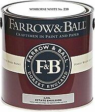 Farrow & Ball Estate Emulsion 2,5 Liter - Wimborne White No 239