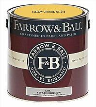Farrow & Ball Estate Emulsion 2,5 Liter - YELLOW GROUND No. 218