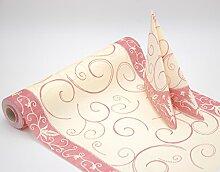 Fasana Harmony Airlaid Tischläufer in creme bordeaux 38cm x 12m Tischdekoration Hochzeitsdeko stoffähnlich stoffoptik hochwertiger Tischläufer für Festlichkeiten wie Hochzeit, Taufe oder Kommunion …