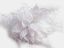 Fascinator/Brosche - Chrysantheme (weiß)