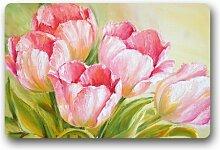 Fashion Decor Teppich mit rosafarbenen Tulpen,