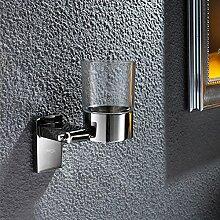 Fashion Edelstahl Bad Becherhalter/Bad-Accessoires/Zahnbürste Mundwasser einzelne Cupholder