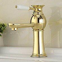 Fashion goldene Waschbecken Waschbecken Wasserhahn