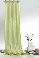 Fashion&Joy - 1 Paar Ösenschals Voile einfarbig