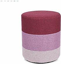 Fashion Massivholz Hocker Stoff Sofa Hocker (Natural Solid Holzrahmen) ( farbe : # 1 )