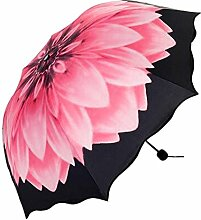 Fashion Pink Daisy Folding Umbrella Sonnenschutz Anti-UV