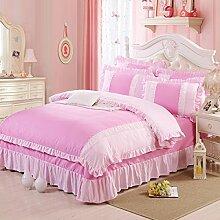 Fashion Prinzessin Style Sheets Gelten Personifizierte Spitze Druck Bettwäsche,Dreamgohandinhand-Standardsize
