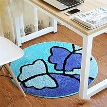 Fashion Round Teppich Schlafzimmer Wohnzimmer Bedside Basket Blanket Study Computer Stuhl Drehstuhl Stuhl Teppich Rutschfeste Fuß Pad ( größe : Diameter 120cm )