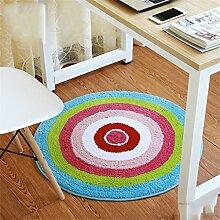 Fashion Round Teppich Schlafzimmer Wohnzimmer Bedside Basket Blanket Study Computer Stuhl Drehstuhl Stuhl Teppich Rutschfeste Fuß Pad ( größe : Diameter 100cm )
