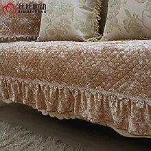 Fashion Stoff Sofa Handtuch/Europäische Plüsch-sofa-matte/Gold Samt Sofa Handtuch/Anti-rutsch-sofa-sets-A 110x160cm(43x63inch)