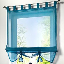 Fashion Style Krawatte Jalousien Fenster Vorhang mit Bead Vorhang, 100 % Polyester, blau, 100X155CM
