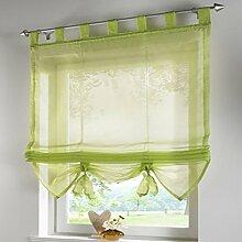 Fashion Style Krawatte Jalousien Fenster Vorhang mit Bead Vorhang, 100 % Polyester, grün, 60x155CM