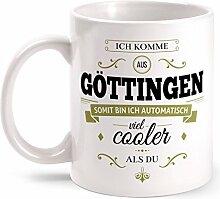 Fashionalarm Tasse Ich komme aus Göttingen -