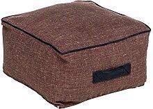 Fashionpillow -1131053007- kleiner Sitzsack Paul / Sitzkissen in Rehbraun - quadratischer Pouf/ Sitzhocker, 50x50x30cm