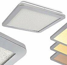 Fasola LED Deckenleuchte Dimmbar in Chrom -
