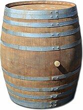 Fass mit 500 Liter, Holzfass, Weinfass aus Eichenholz (geöffnet als Regentonne + Deckel)