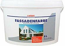 Fassadenfarbe weiß 5 Liter Farbe Fassade