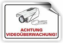 Fassbender-Druck SCHILDER Achtung VIDEOÜBERWACHT