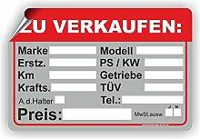 Fassbender-Druck SCHILDER Auto Verkaufsschild -