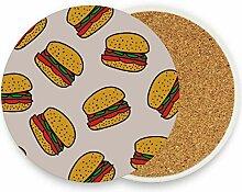 Fast Food leckere Hamburger Tisch Untersetzer für