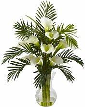 Fast natur 1301-cr Calla Lily und Palm COMBO