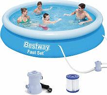 Fast Set Pool Swimmingpool Rund mit Filterpumpe