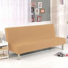 Fastar Sofa Cover All Inclusive Klapp Stretch Sofa Bett Sofa Cover Protector ohne Armlehnen für Home Dekoration Home Wohnzimmer camel