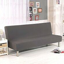Fastar Sofa Cover All Inclusive Klapp Stretch Sofa Bett Sofa Cover Protector ohne Armlehnen für Home Dekoration Home Wohnzimmer grau