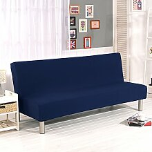 Fastar Sofa Cover All Inclusive Klapp Stretch Sofa Bett Sofa Cover Protector ohne Armlehnen für Home Dekoration Home Wohnzimmer navy