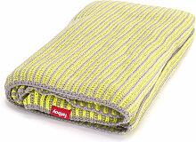 Fatboy - Klaid Decke, hellgrau / neon-gelb