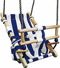 FATMOOSE Babyschaukel BeachCruiser Babysitz aus Stoff Schaukelsitz mit Sicherheitsgurt, blau
