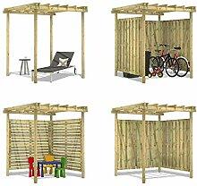 FATMOOSE Pergola Pavillon SolidShelter Holz