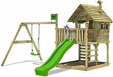 FATMOOSE Spielturm WackyWorld Spielhaus auf