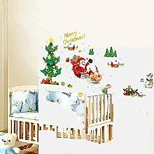 FATO. Weihnachten Wand-Aufkleber Weihnachtsbaum