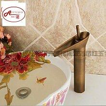 Faucat (Wasserhahn, Antike Becken Wasserhahn, Bronze - Kunst, Kalten Und Warmen Kupfer, Europäischen Stil Wasserhahn,Alle Bronze Antiken Weinglas Wasserhahn