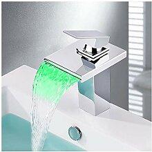 FAUCDUXYET LED Wasserhahn Bad Waschbecken mit RGB