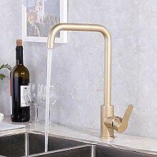 Fauce Luxus Gold Küchenarmatur Gold Messing für