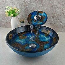 Faucet&xiyiji Badezimmer-Waschbecken aus Glas,