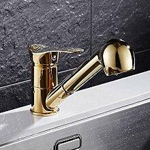 Faucetkk Wasserhahn Küche Goldener Wasserhahn