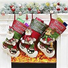 Fauhsto Weihnachtsstrümpfe Socken 3er