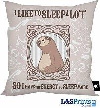 Faultier I Like zu schlafen Menge Design Kissen