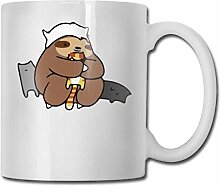 Faultier liebt Katzen Mode Kaffeetasse Porzellan