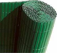 Faura 15001doppelseitig Dekoration Außen Sichtschutz PVC grün