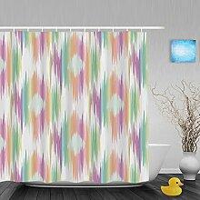 Faux Animal Spots Decor Badezimmer Dusche Vorhänge einzigartigen Muster Duschvorhang Polyester-Wasserdicht-152,4x 182,9cm Zoll, Multi6, 72(length) X 72(width)